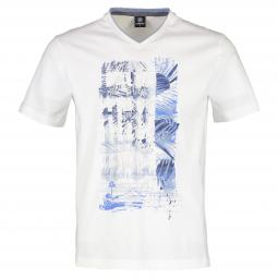 V-Neck-Shirt mit Print