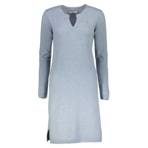 DRANELLA Strick-Kleid 'Foliviat' STEEL BLUE MELANGE | S