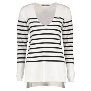 b.young V-Neck Pullover 'Miama' OPTICAL WHITE | L