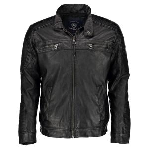 Jacke in Leder-Optik BLACK | M