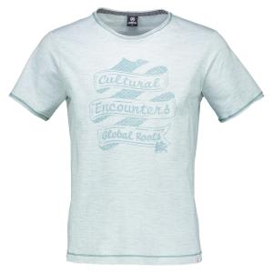 T-Shirt mit Ringel SOFT GREEN | M
