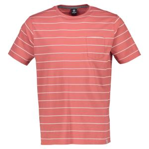 T-Shirt in Streifenoptik ORANGE | M