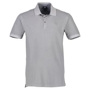Halbarm Polo im Used-Look PALE GREY | M