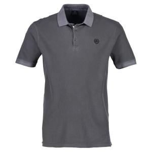 Halbarm Polo im Used-Look ROCK GREY | XXXL