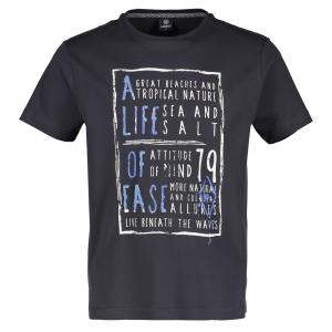 T-Shirt mit Motto-Print ROCK GREY | L