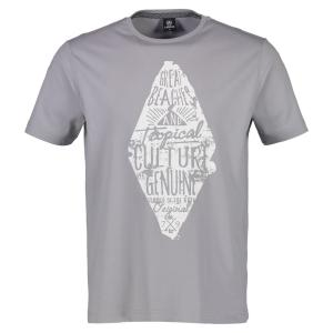 T-Shirt mit Rautenprint PALE GREY | L