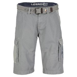 Bermuda mit Alloverprint PALE GREY | 31