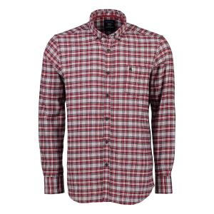 Langarmhemd in Twill-Karo RED | XXXL