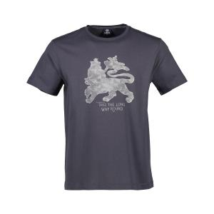 T-Shirt mit Löwenprint ROCK GREY | 3XL