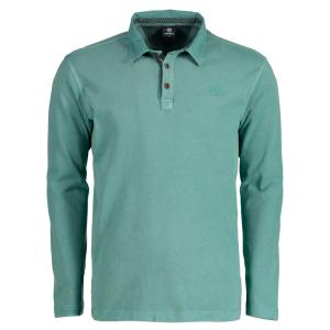 Rugby-Polo in Jersey Qualität MINERAL GREEN   M