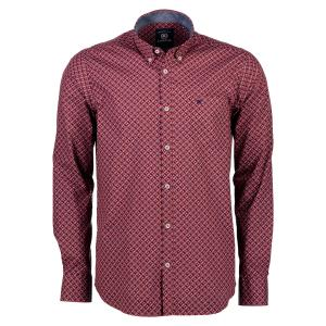 Hemd mit trendigem Alloverprint RED | L