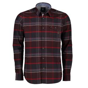 Langarmhemd mit Oxford-Check RED | 5XL