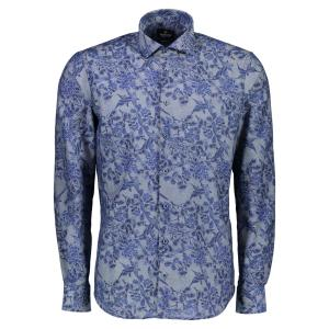 Premium Hemd mit floralem All-Over-Print MIDNIGHT NAVY | 39/40