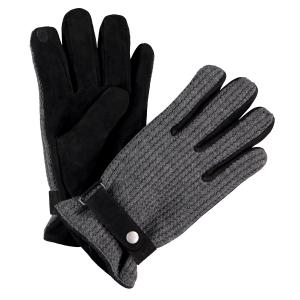Handschuh in edlem Materialmix DARK ANTHRACITE | S