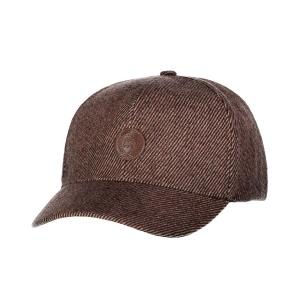 Baseball Cap in Wolloptik DARK BROWN | PCK