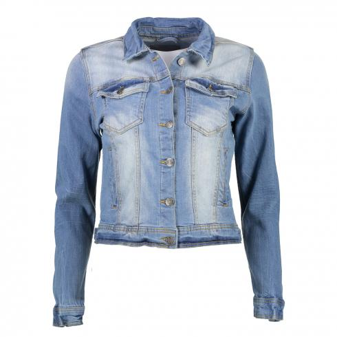 Jeansjacke 'Pully' MED BLUE | 36