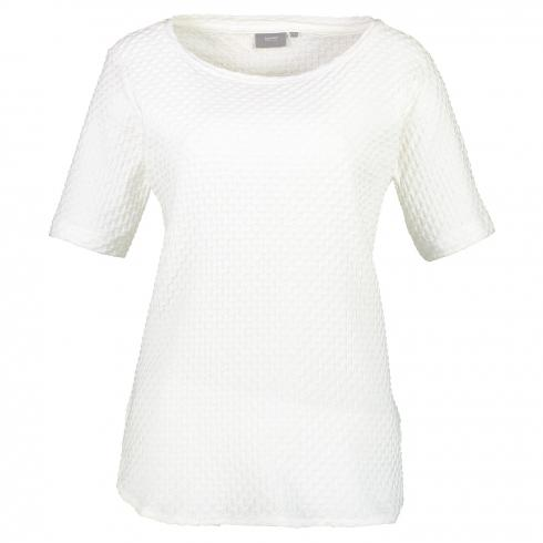 T-Shirt in Grobstrickoptik 'Parly' OFF WHITE | L
