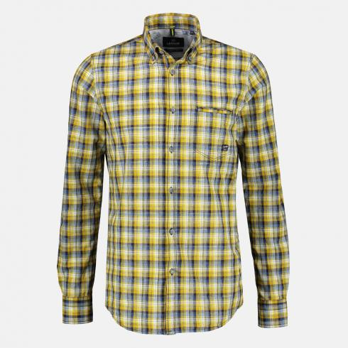 Hemd mit modischem Check FADED YELLOW | L
