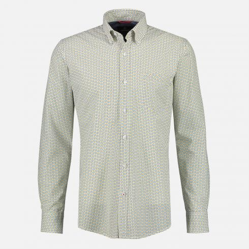 Button-Down-Hemd mit Minimalprint