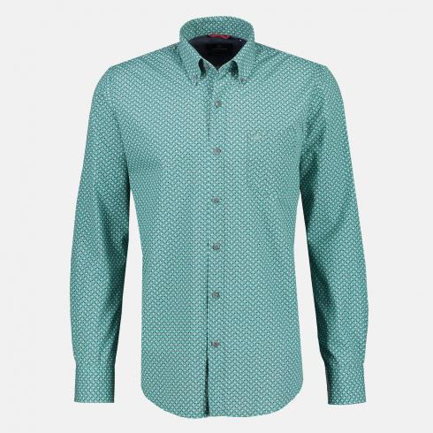 Button-Down-Hemd mit Minimalprint WASHED BLUE | L