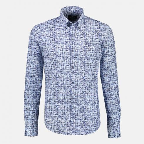 Hemd mit Alloverprint BLUE | L