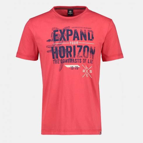T-Shirt *Expand your horizon* HOT RED | S