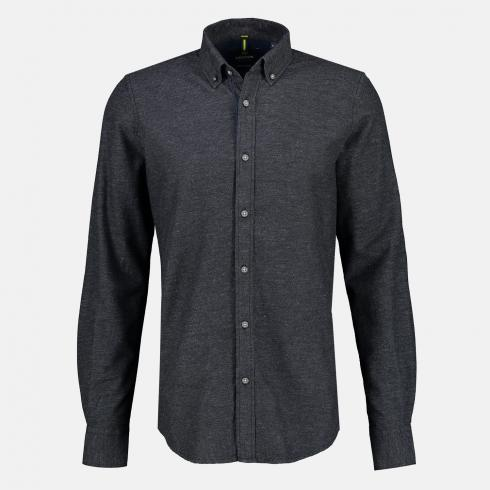 Unifarbenes Button-Down-Hemd