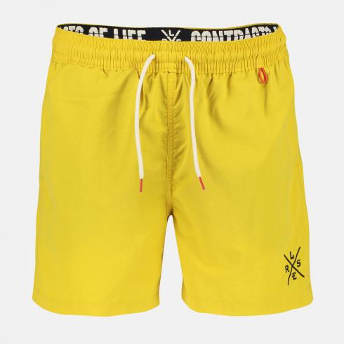Badeshorts, unifarben mit Logo BRIGHT YELLOW | L