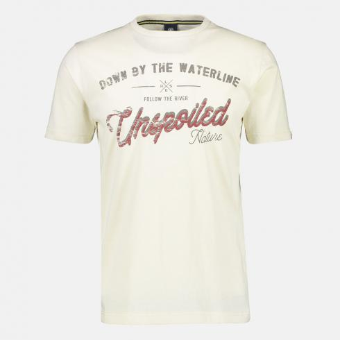 Modisch-geprintetes T-Shirt *Unspoiled* OFFWHITE | L
