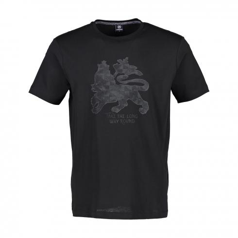 T-Shirt mit Löwenprint BLACK | M