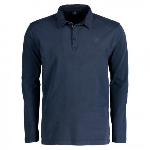 Rugby-Polo in Jersey Qualität NAUTIC BLUE | M