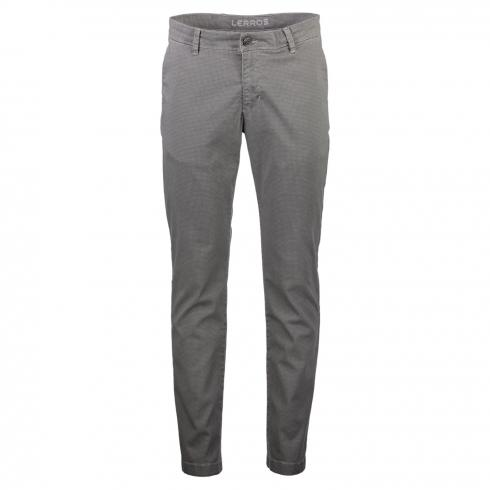 Chino mit dezentem Alloverprint SILVER | 34 | 32