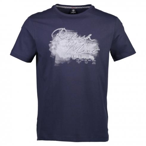 T-Shirt mit Brustprint NAUTIC BLUE | L
