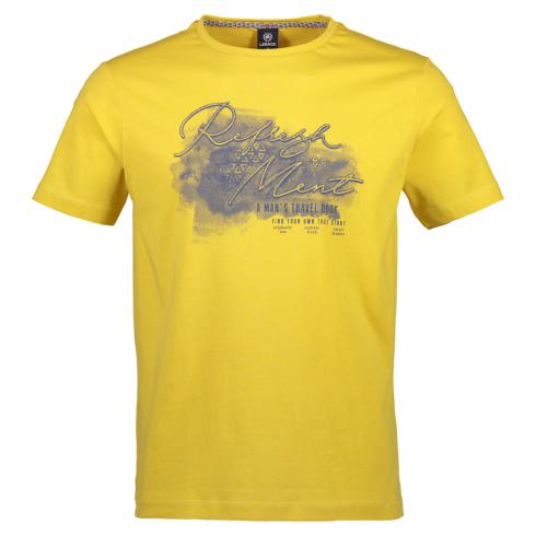 T-Shirt mit Brustprint YELLOW | L