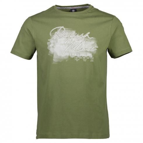 T-Shirt mit Brustprint KIWI GREEN | M