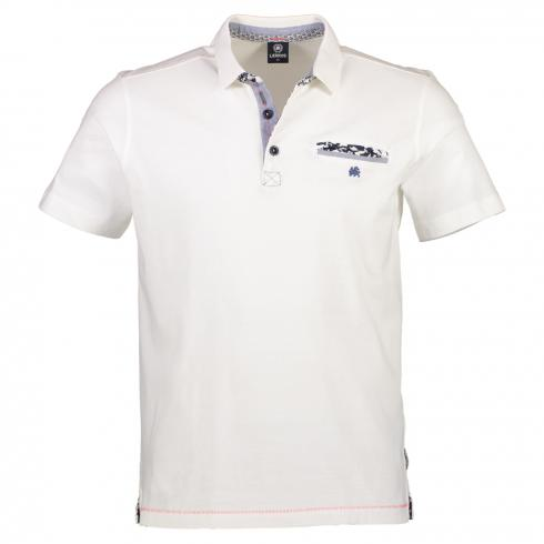Halbarm Polo aus Single Jersey
