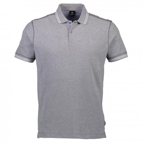 Poloshirt in Two-Tone-Piqué