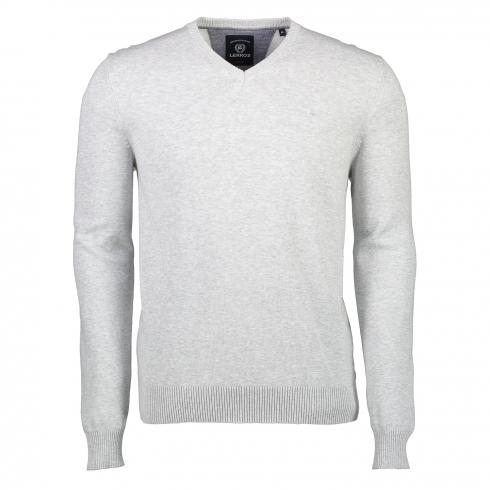 V-Neck Pullover LIGHT STONE MELANGE | XXXL