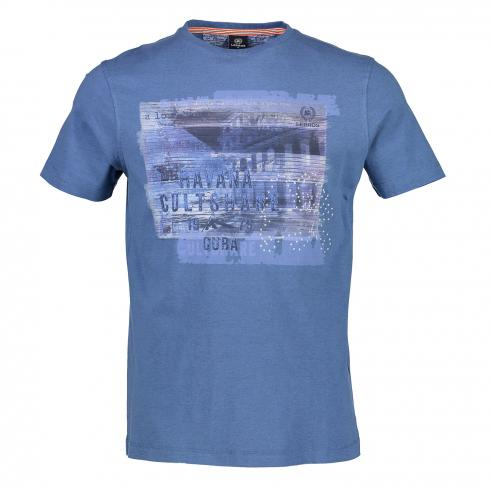 T-Shirt mit Applikation BLUE | L