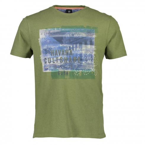 T-Shirt mit Applikation KIWI GREEN | L