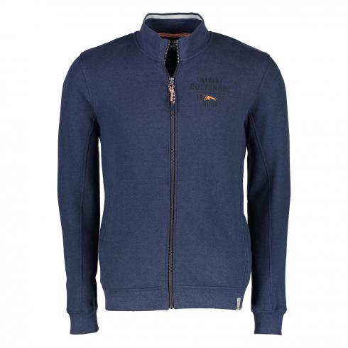softe Sweatjacke VINTAGE BLUE | L