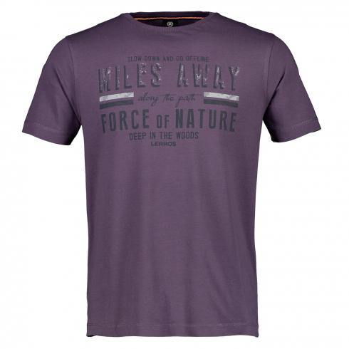 T-Shirt mit Frontdruck AUTUMN GRAPE | S