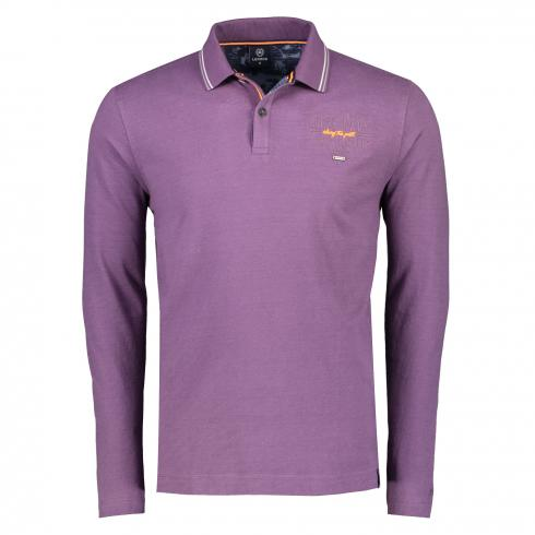Langarm Poloshirt mit Print AUTUMN GRAPE | S