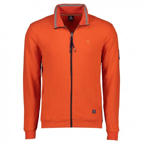Sweatjacke mit Zipper SHARP ORANGE | L