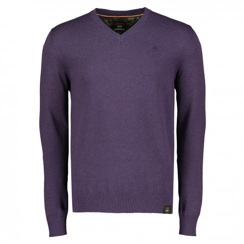 V-Ausschnitt-Pullover AUTUMN GRAPE MEL | XXL