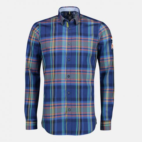 Multicolour-Check Hemd TRUE BLUE | M