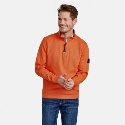 Sweattroyer mit Stehkragen STRONG ORANGE | XL