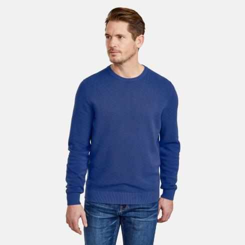 Strukturierter Strickpullover TRUE BLUE | XL
