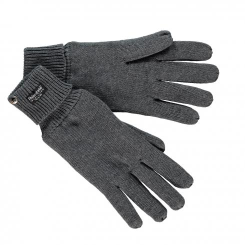 Basic Strickhandschuhe DARK ANTHRACITE | S