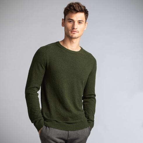 Rundhalspullover AUTUMN LEAF GREEN | L